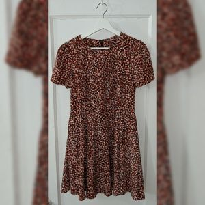 Vintage Heart Print Fit and Flare Dress